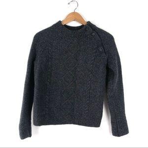 Equipment Femme Wool Blend Side Button Sweater